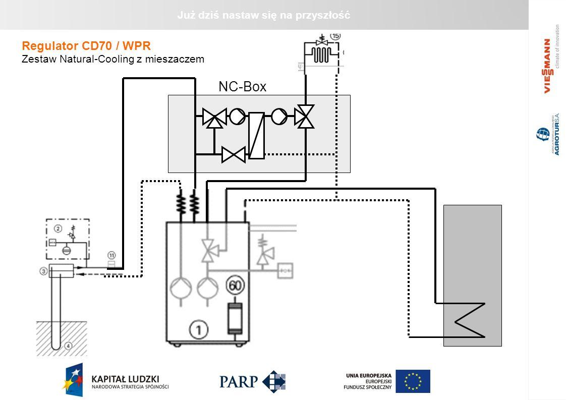 Regulator CD70 / WPR Zestaw Natural-Cooling z mieszaczem NC-Box 22