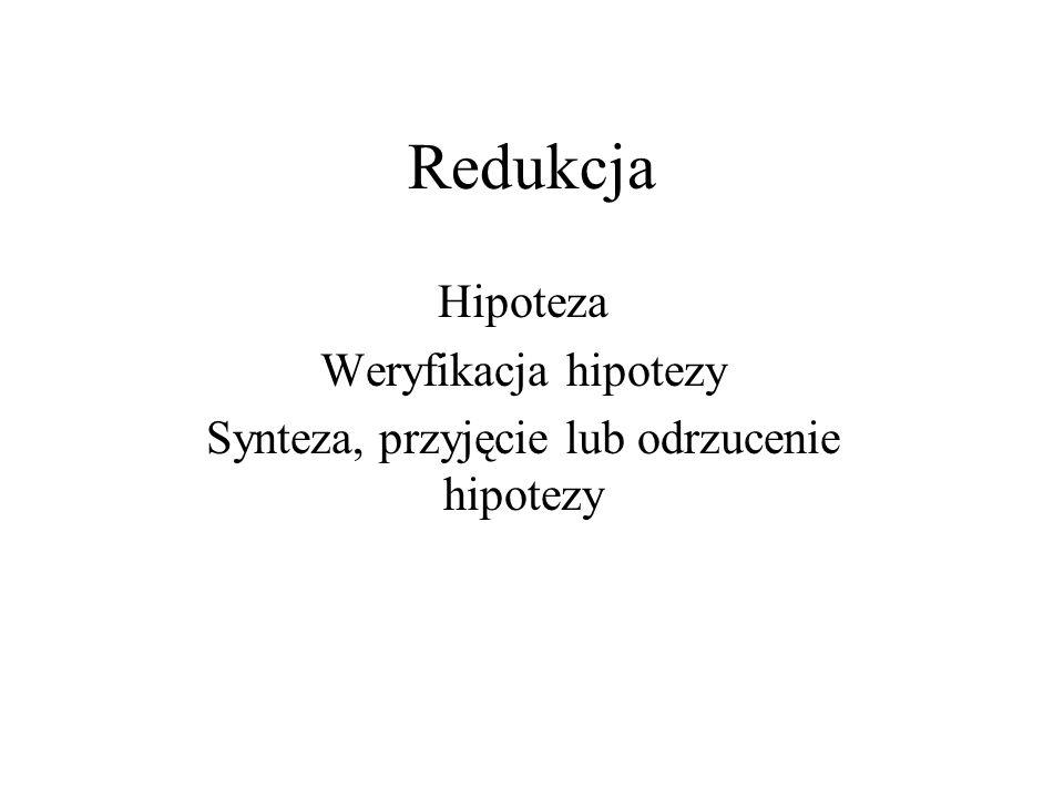 Synteza, przyjęcie lub odrzucenie hipotezy