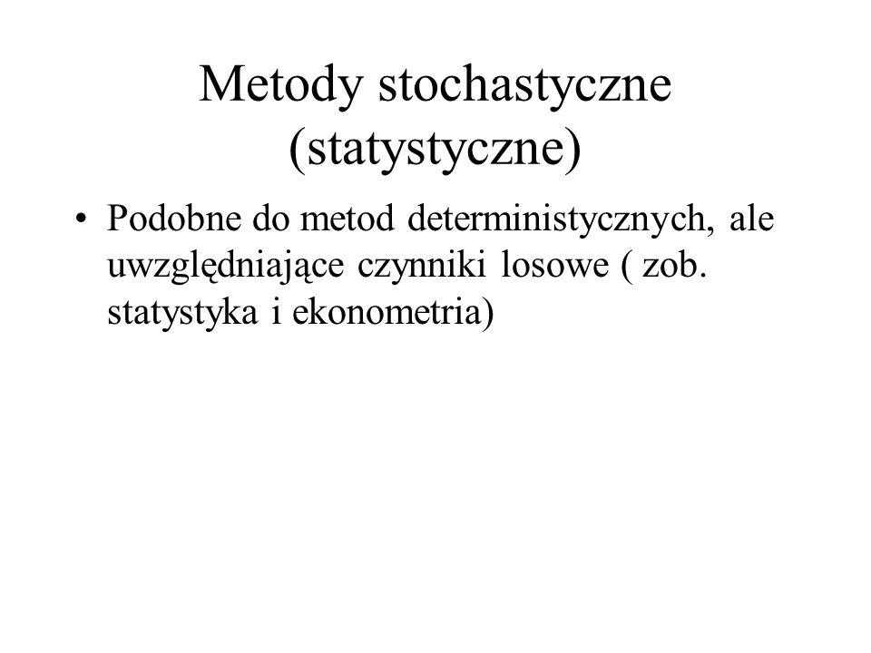 Metody stochastyczne (statystyczne)