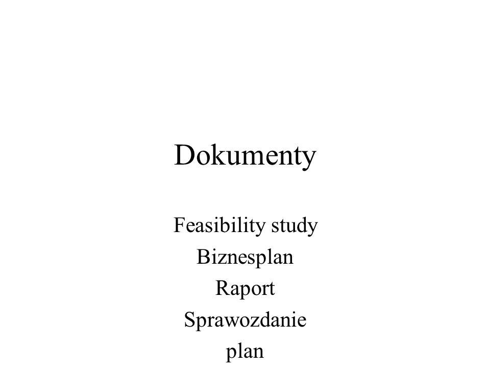 Feasibility study Biznesplan Raport Sprawozdanie plan