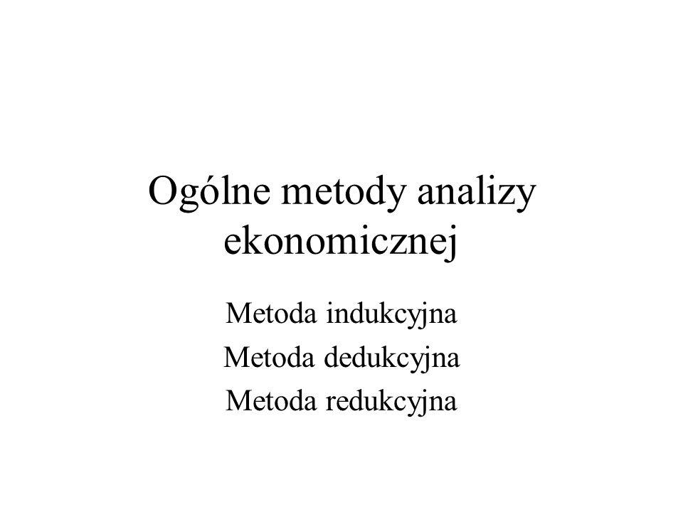 Ogólne metody analizy ekonomicznej