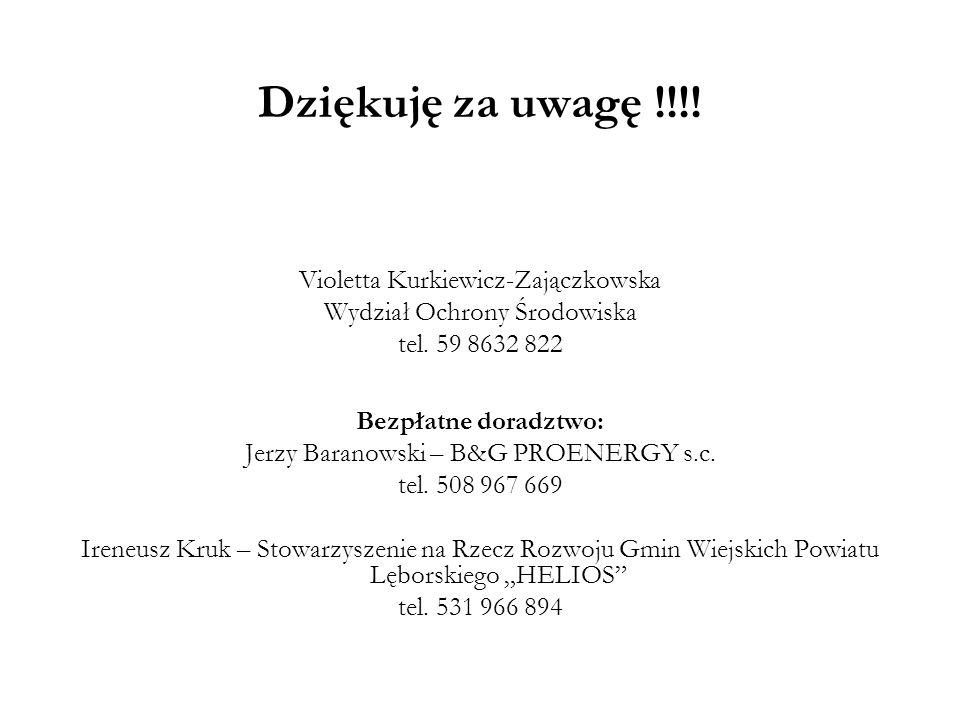 Dziękuję za uwagę !!!! Violetta Kurkiewicz-Zajączkowska
