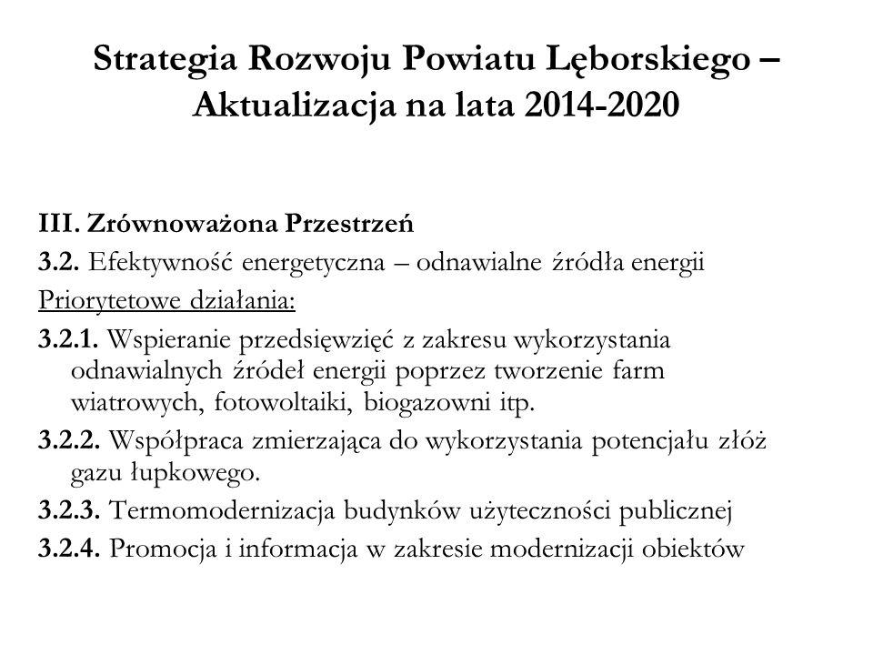 Strategia Rozwoju Powiatu Lęborskiego – Aktualizacja na lata 2014-2020