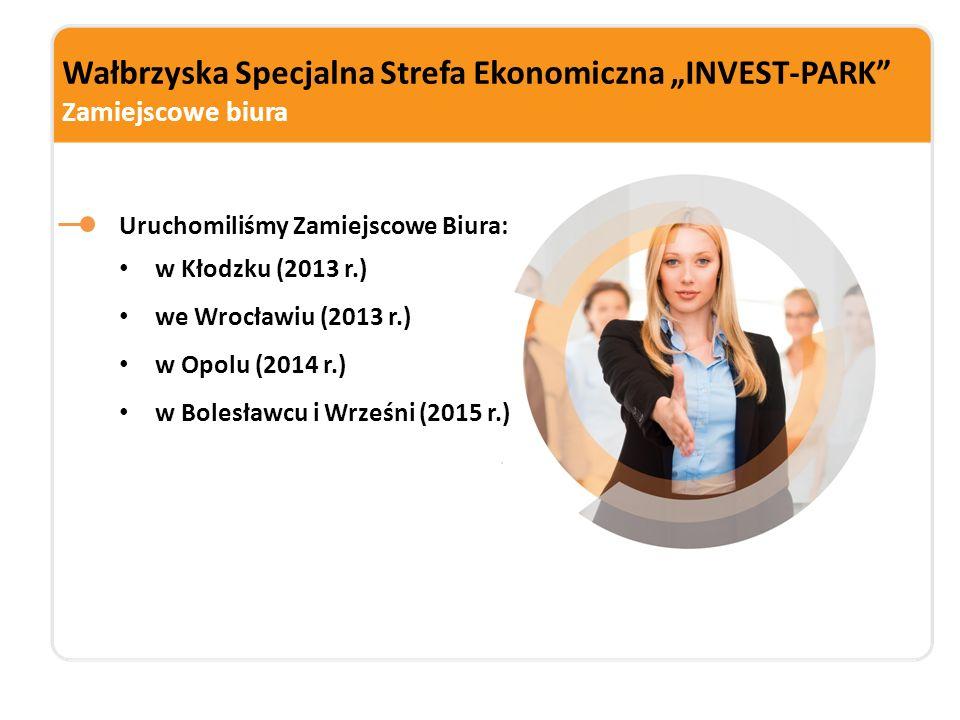 """Wałbrzyska Specjalna Strefa Ekonomiczna """"INVEST-PARK Zamiejscowe biura"""