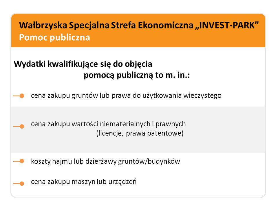 """Wałbrzyska Specjalna Strefa Ekonomiczna """"INVEST-PARK Pomoc publiczna"""