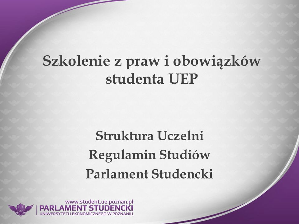 Szkolenie z praw i obowiązków studenta UEP