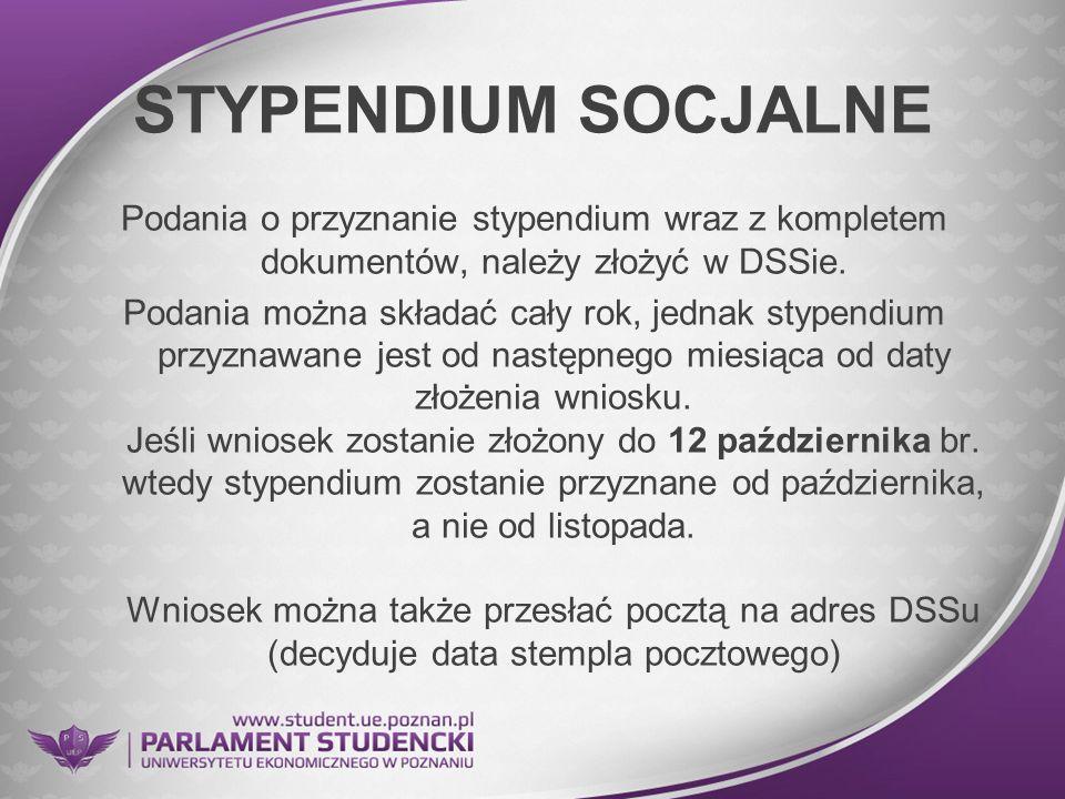 STYPENDIUM SOCJALNE