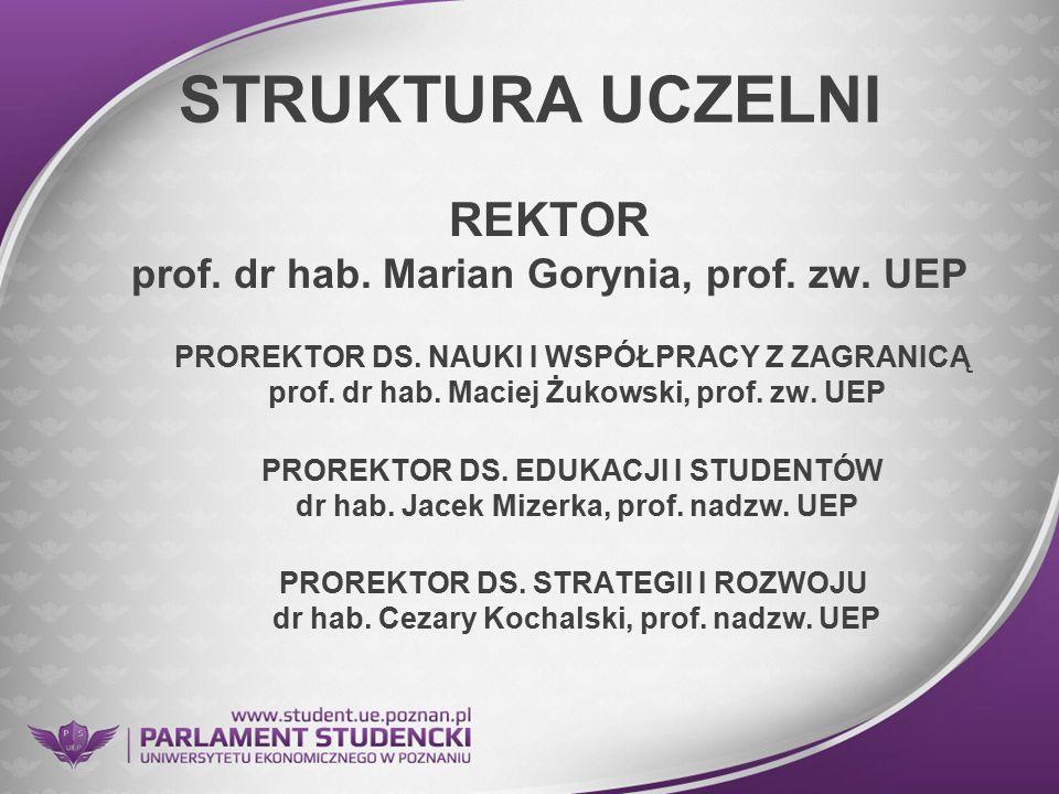REKTOR prof. dr hab. Marian Gorynia, prof. zw. UEP