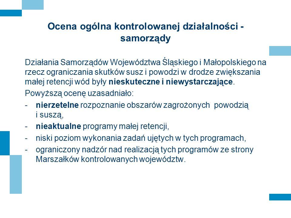Ocena ogólna kontrolowanej działalności - samorządy