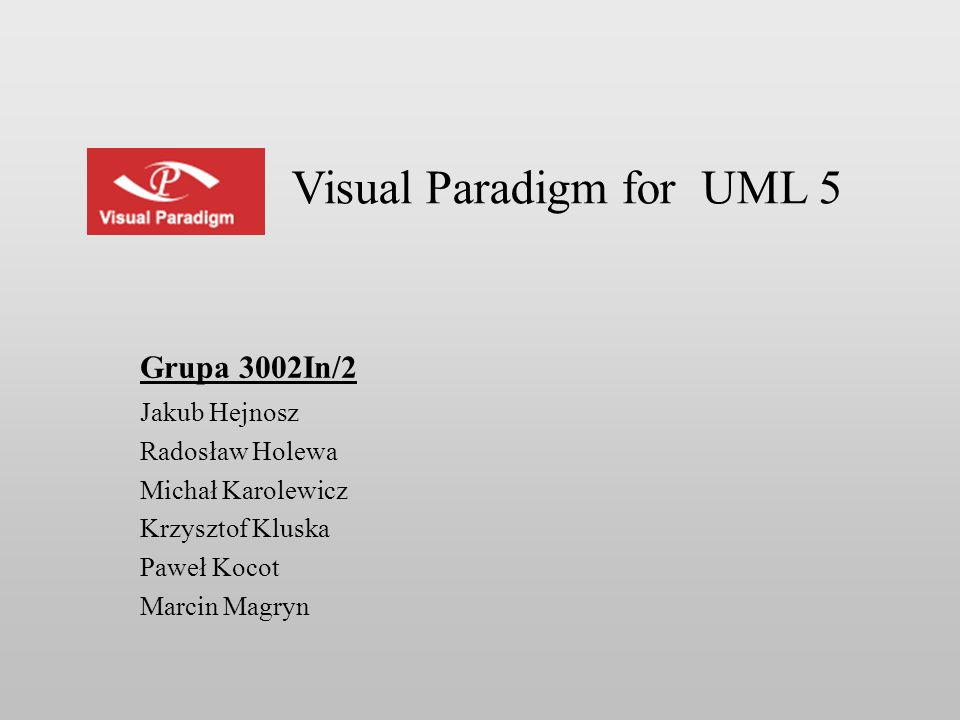 Visual Paradigm for UML 5