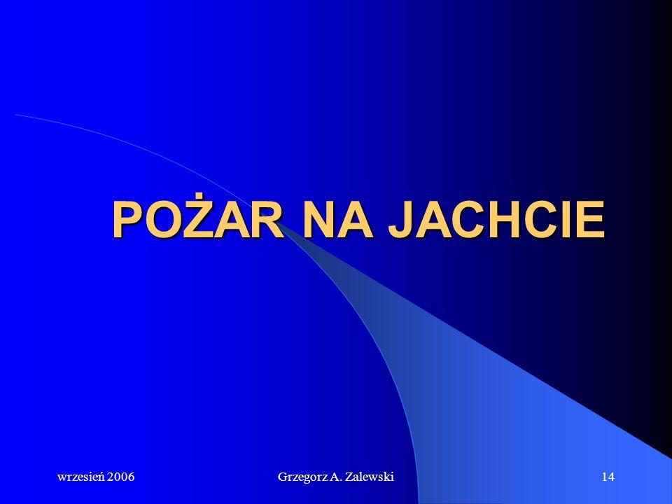 POŻAR NA JACHCIE wrzesień 2006 Grzegorz A. Zalewski