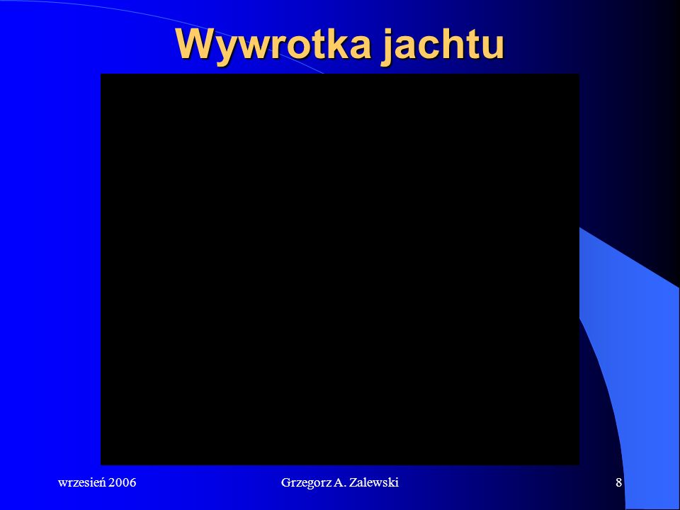 Wywrotka jachtu wrzesień 2006 Grzegorz A. Zalewski