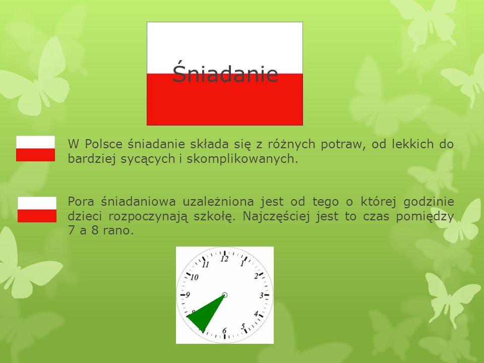 ŚniadanieW Polsce śniadanie składa się z różnych potraw, od lekkich do bardziej sycących i skomplikowanych.