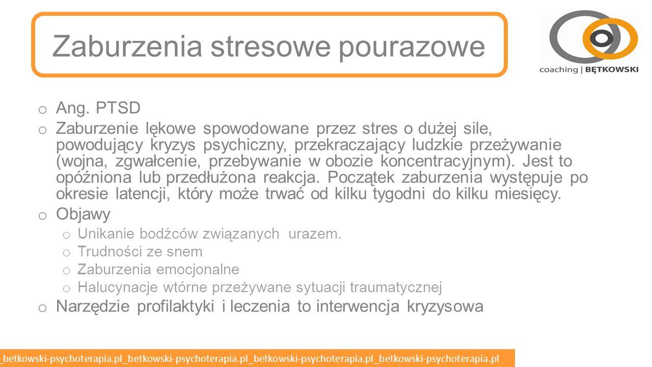Zaburzenia stresowe pourazowe