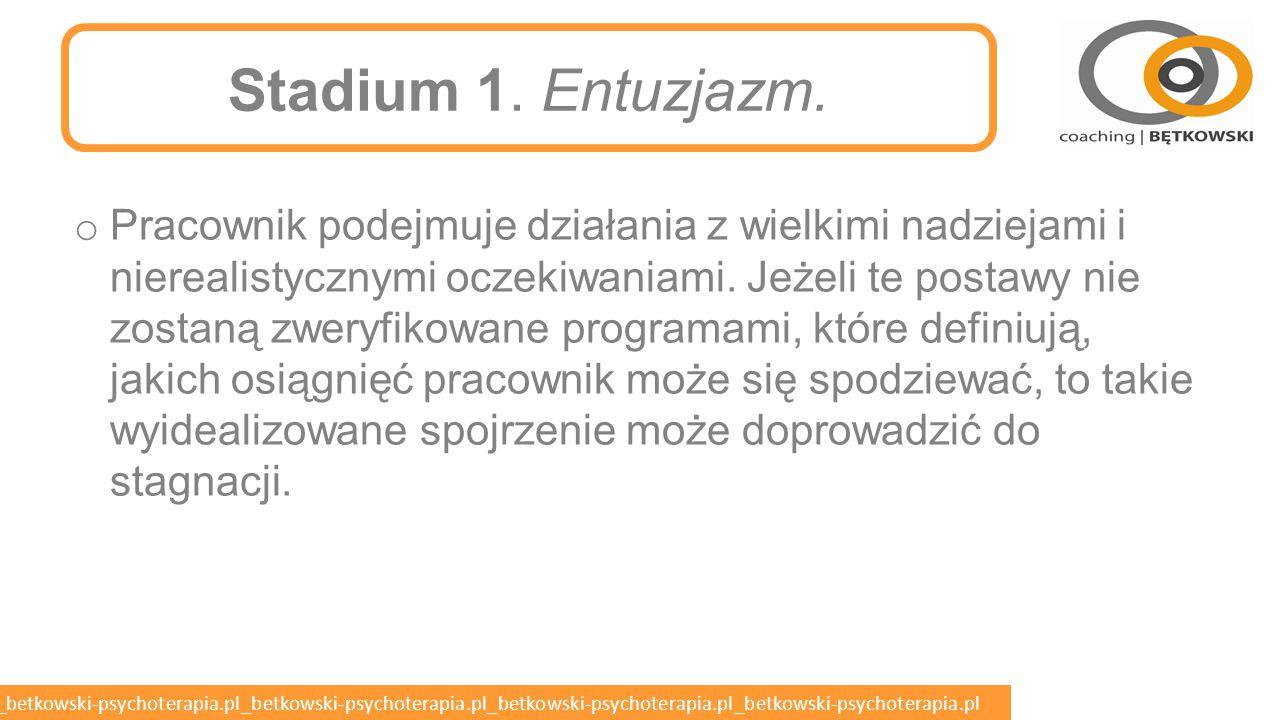 Stadium 1. Entuzjazm.