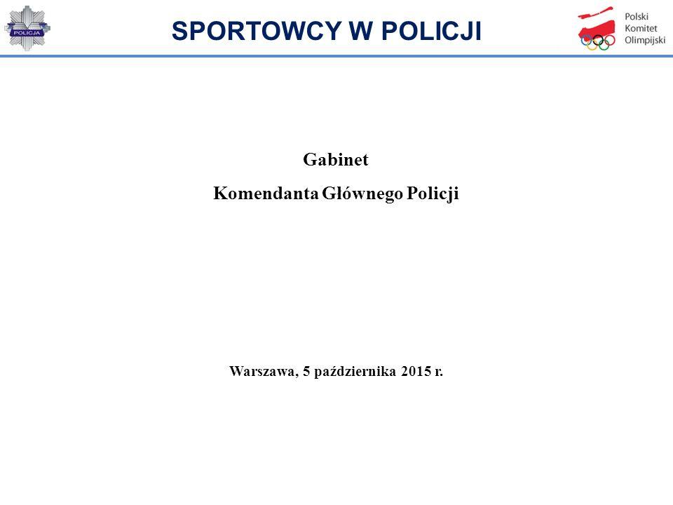 Gabinet Komendanta Głównego Policji Warszawa, 5 października 2015 r.