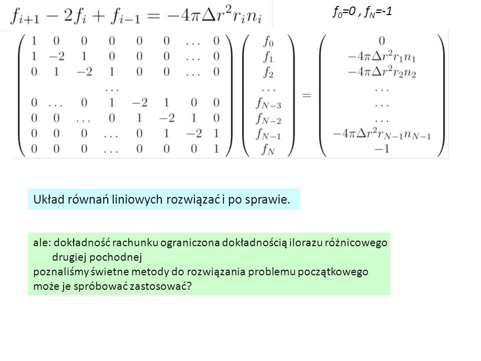 Układ równań liniowych rozwiązać i po sprawie.