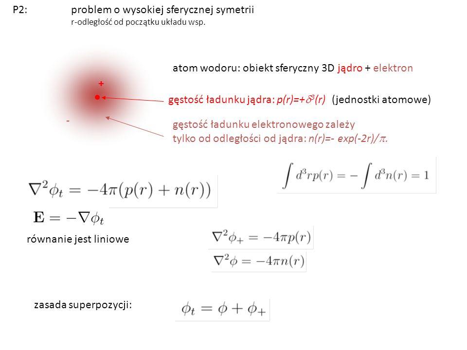 problem o wysokiej sferycznej symetrii