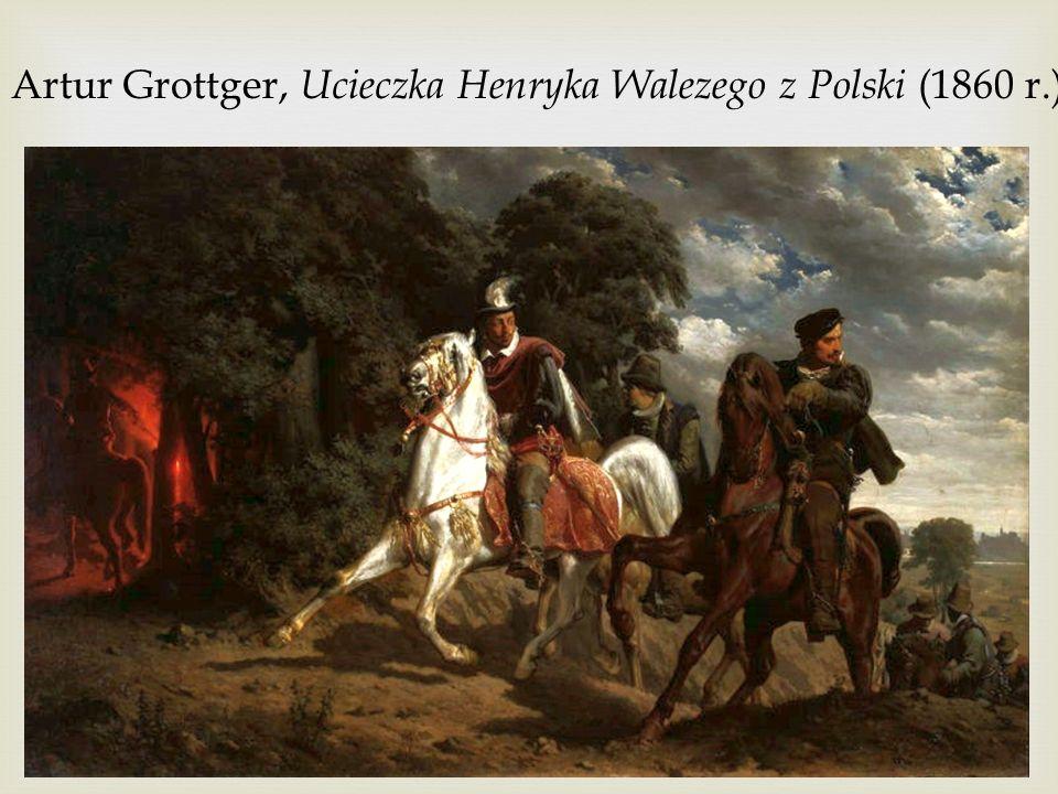 Artur Grottger, Ucieczka Henryka Walezego z Polski (1860 r.)