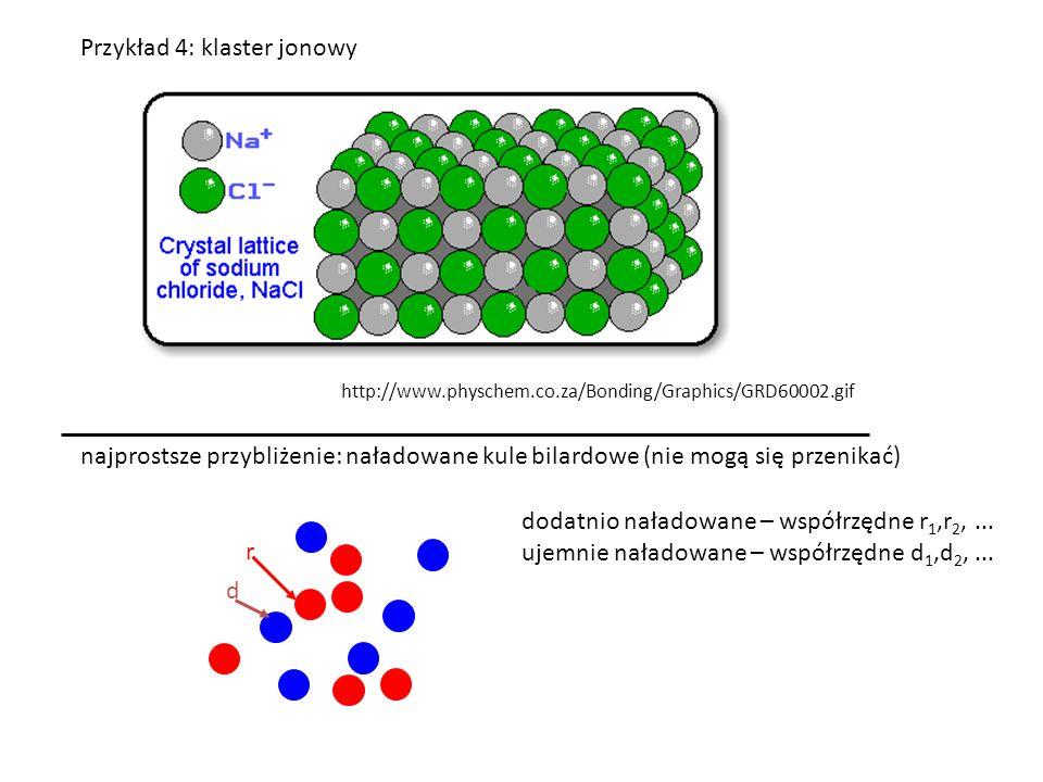 Przykład 4: klaster jonowy