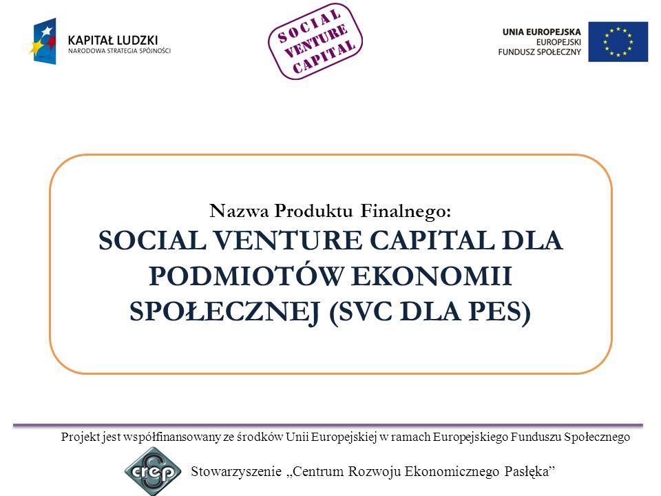 Nazwa Produktu Finalnego: SOCIAL VENTURE CAPITAL DLA PODMIOTÓW EKONOMII SPOŁECZNEJ (SVC DLA PES)