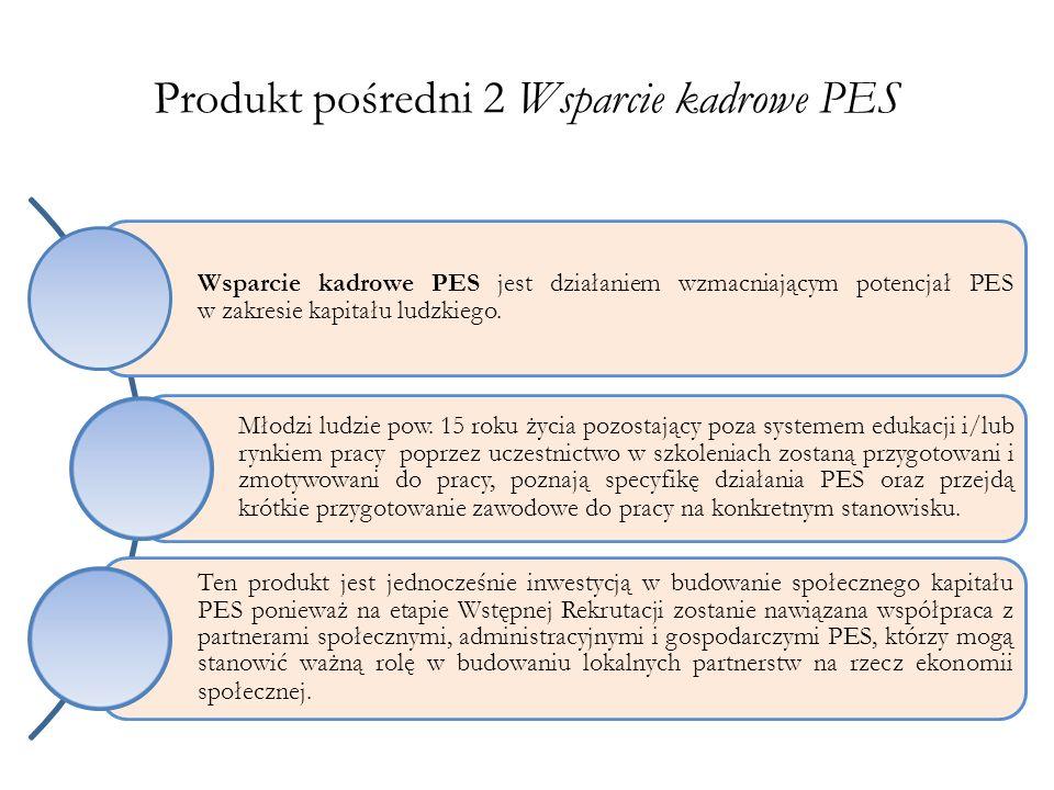 Produkt pośredni 2 Wsparcie kadrowe PES