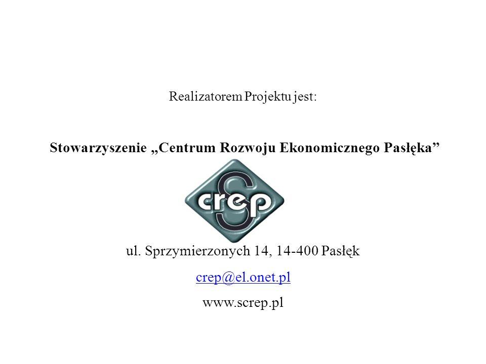 """Stowarzyszenie """"Centrum Rozwoju Ekonomicznego Pasłęka"""