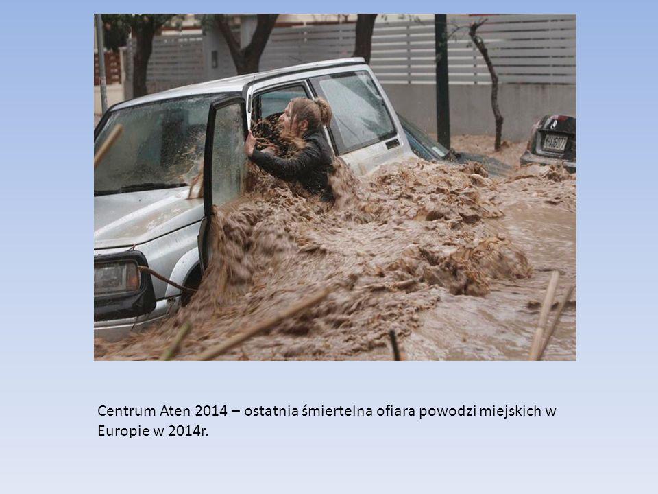 Centrum Aten 2014 – ostatnia śmiertelna ofiara powodzi miejskich w Europie w 2014r.