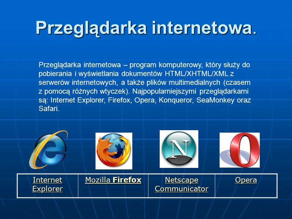 Przeglądarka internetowa.