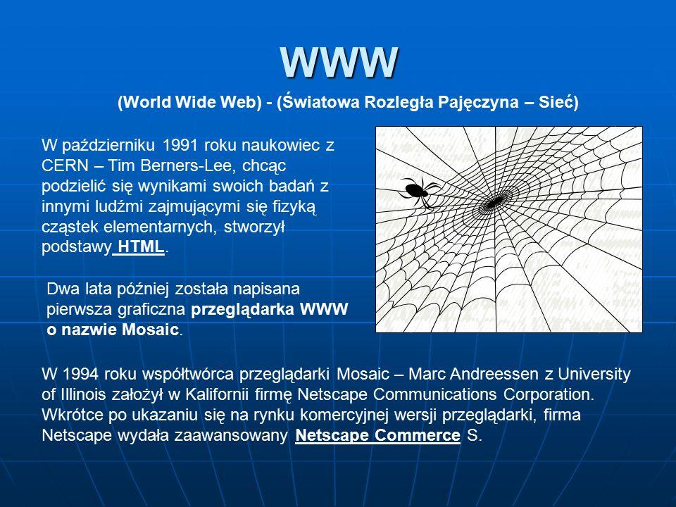 (World Wide Web) - (Światowa Rozległa Pajęczyna – Sieć)