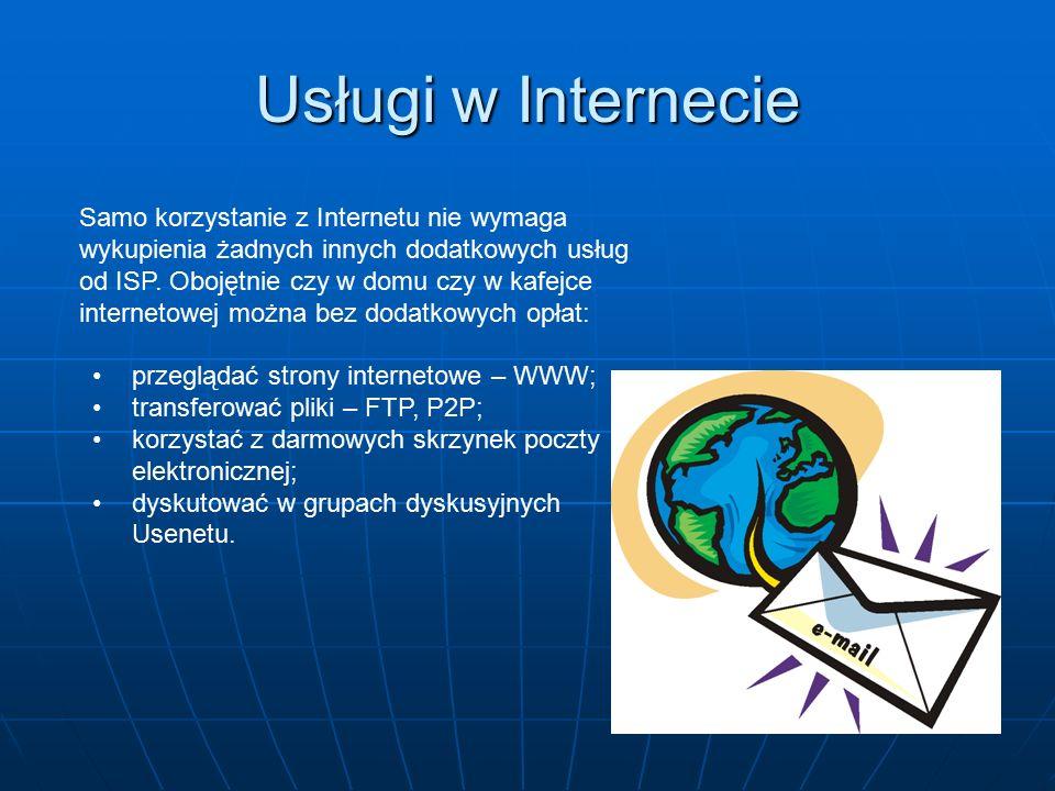 Usługi w Internecie