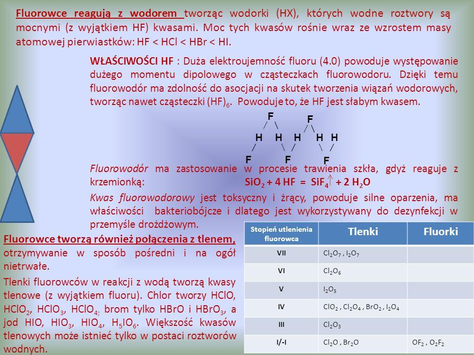 Stopień utlenienia fluorowca