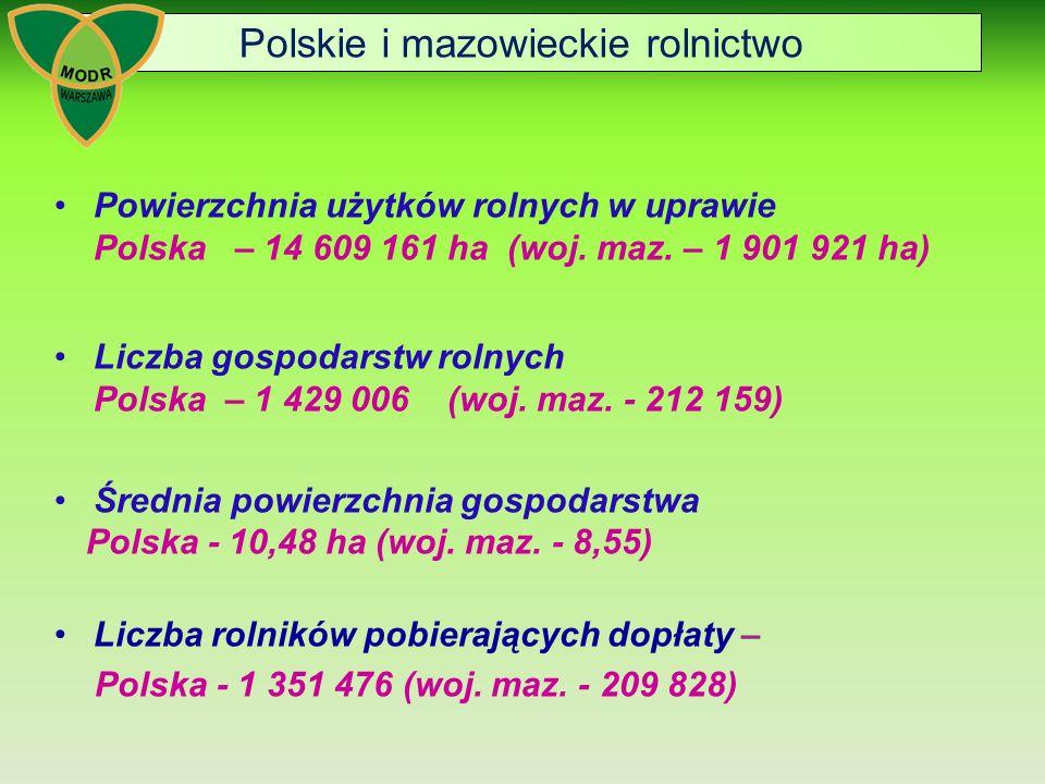 Polskie i mazowieckie rolnictwo