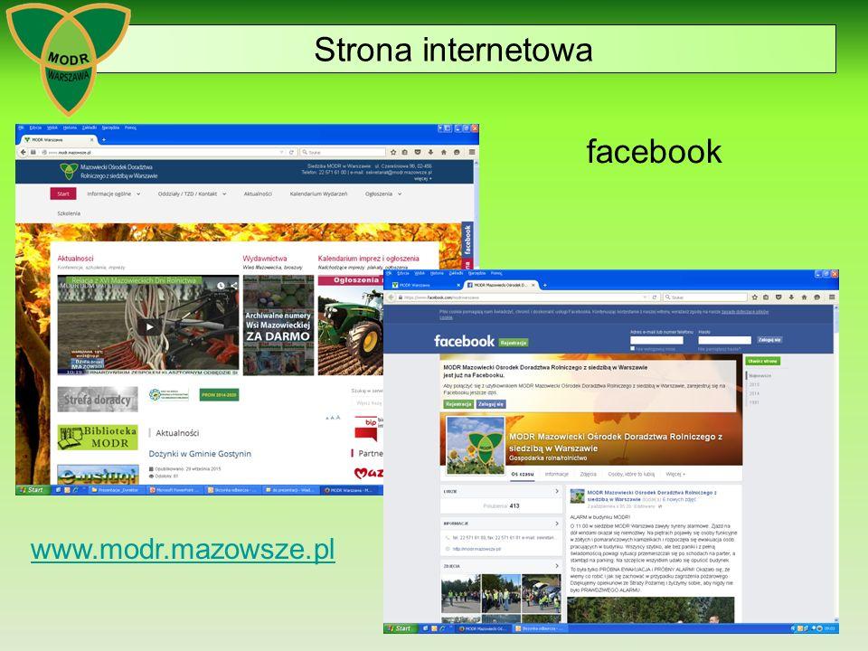 Strona internetowa facebook www.modr.mazowsze.pl