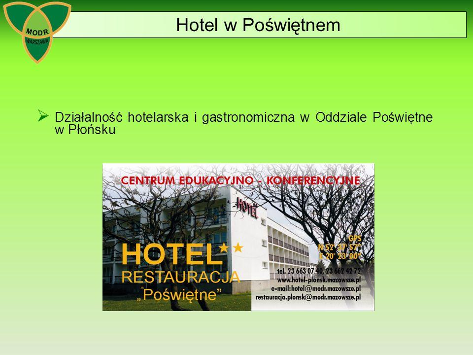 Hotel w Poświętnem Działalność hotelarska i gastronomiczna w Oddziale Poświętne w Płońsku