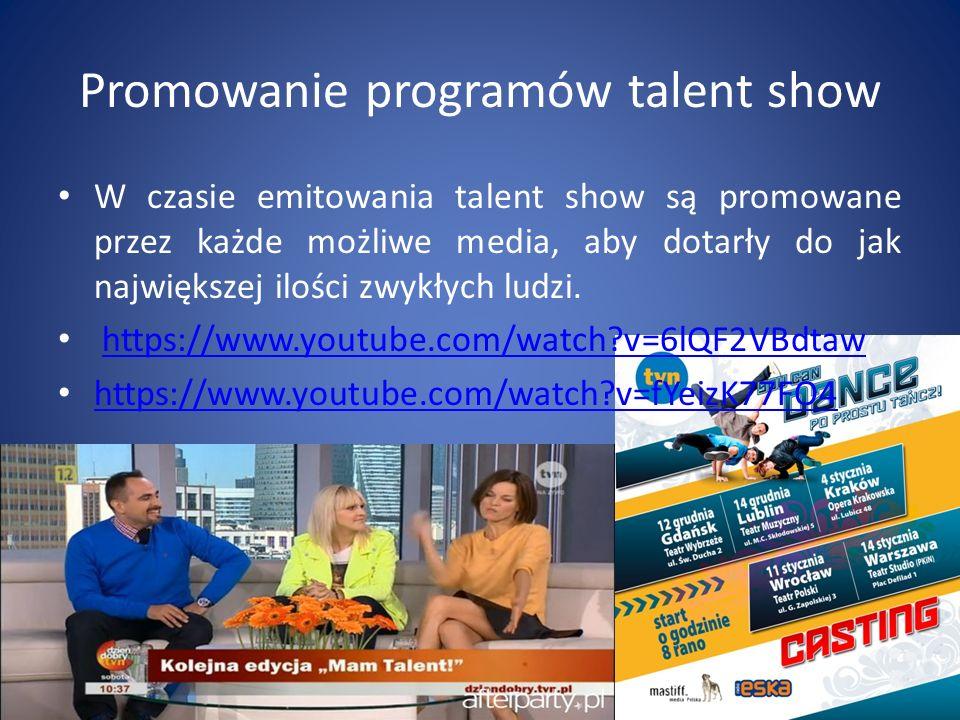 Promowanie programów talent show