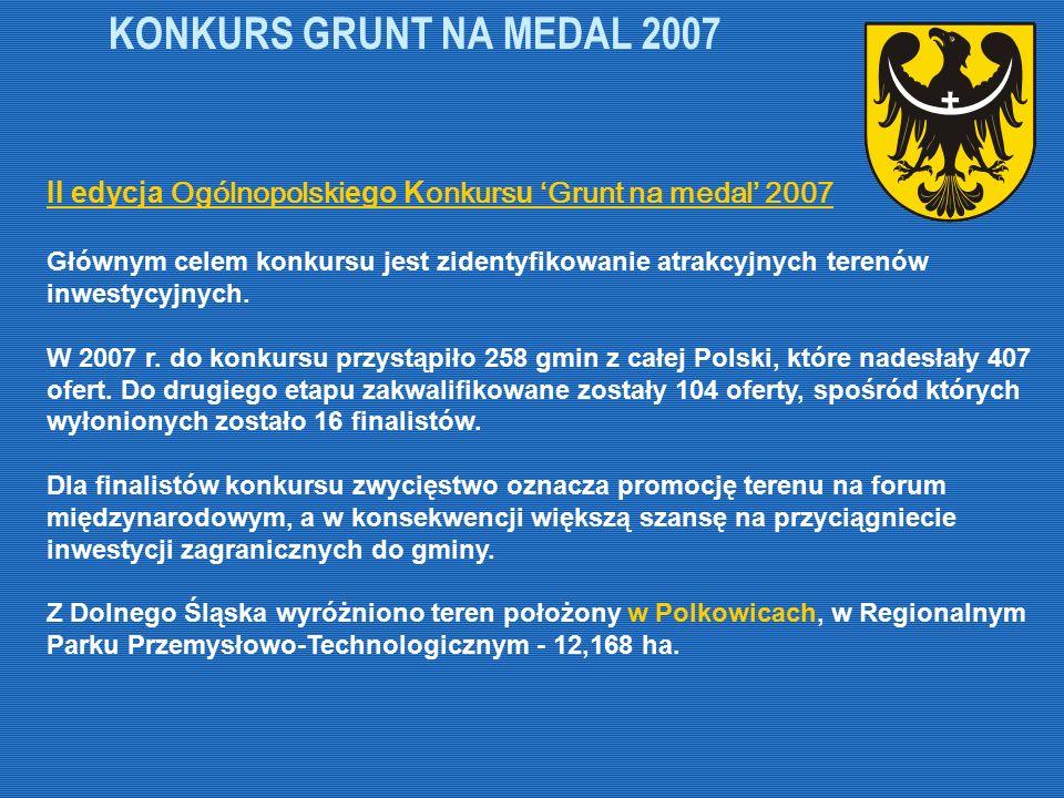 KONKURS GRUNT NA MEDAL 2007 II edycja Ogólnopolskiego Konkursu 'Grunt na medal' 2007.