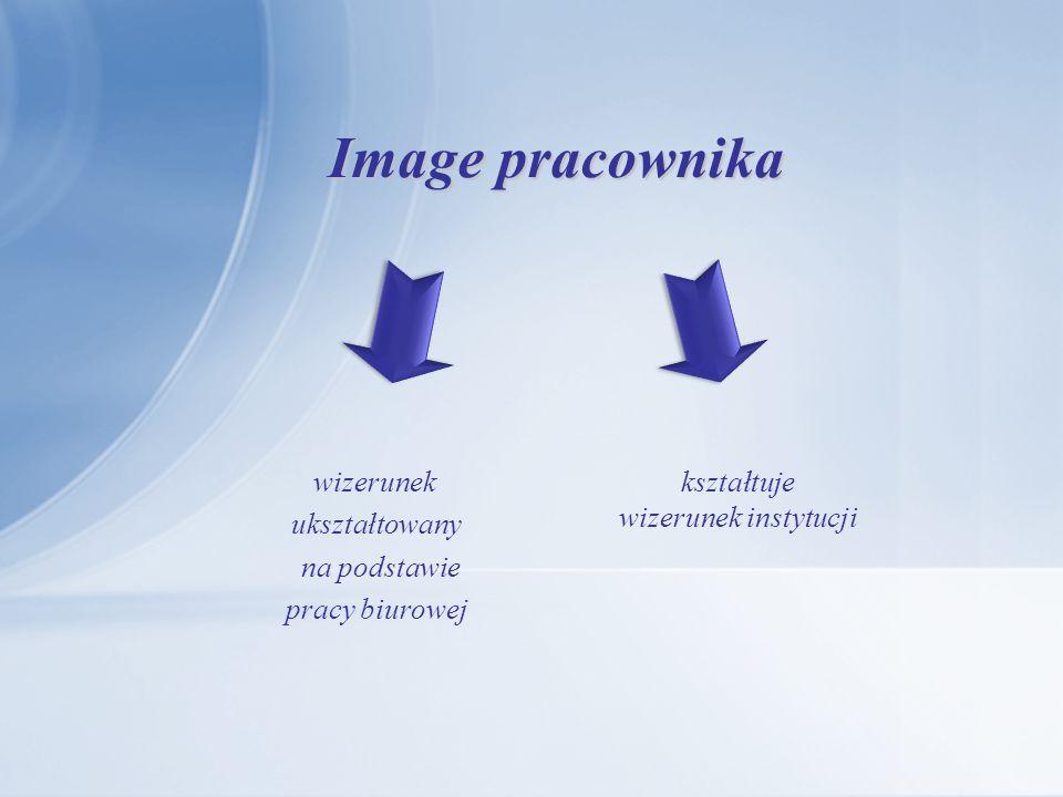 Image pracownika kształtuje wizerunek instytucji wizerunek