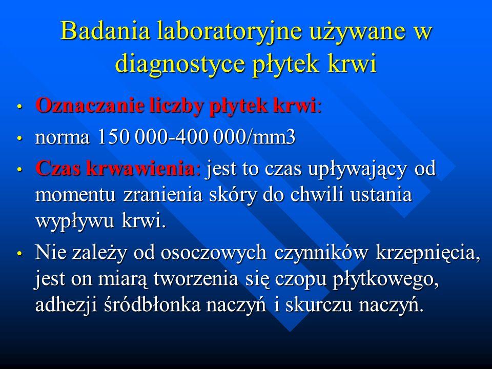 Badania laboratoryjne używane w diagnostyce płytek krwi