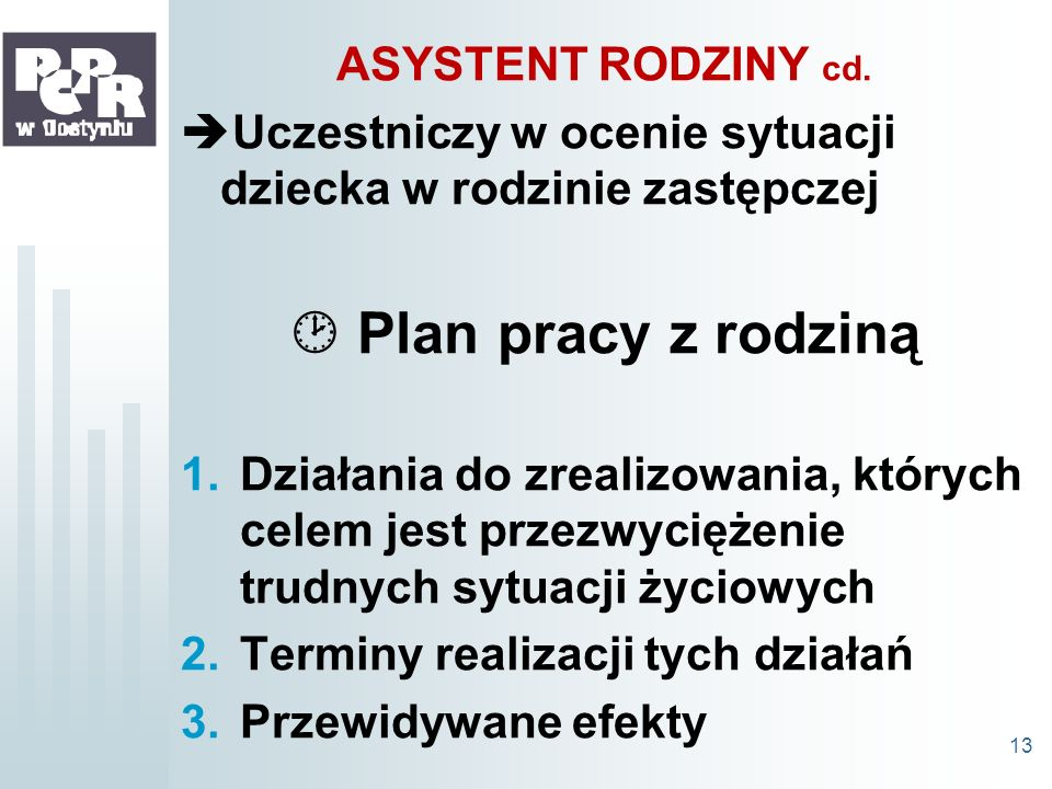  Plan pracy z rodziną ASYSTENT RODZINY cd.