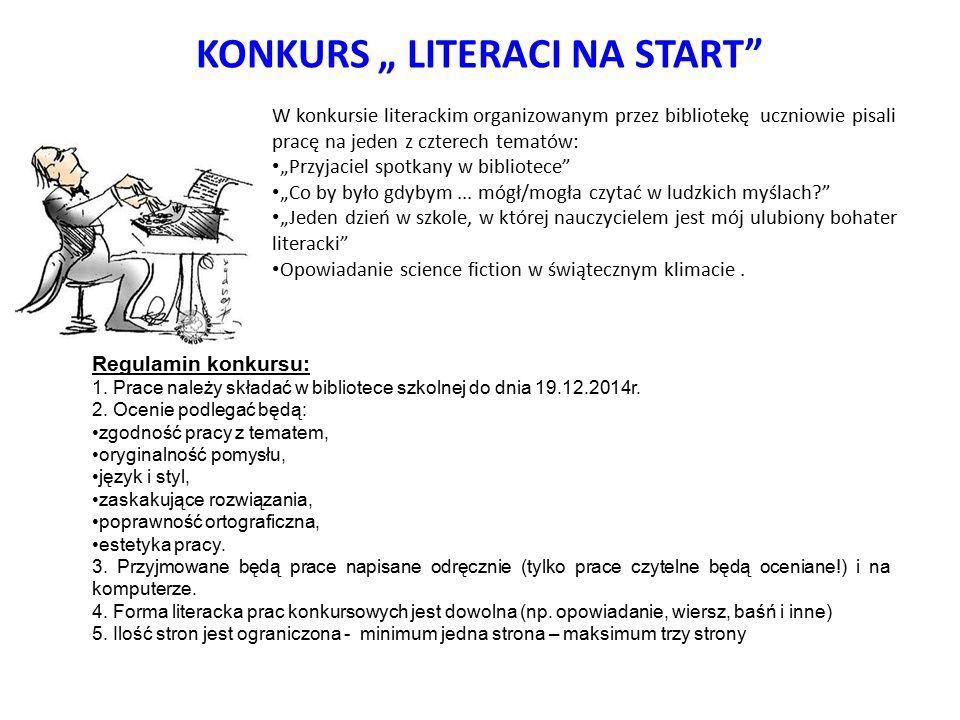 "KONKURS "" LITERACI NA START"