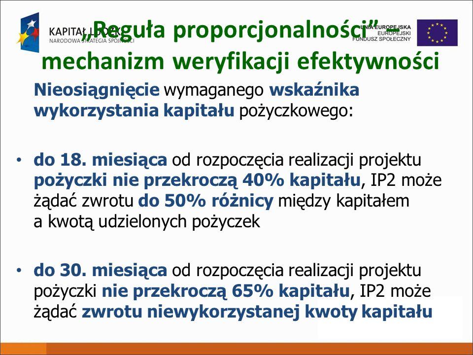 """""""Reguła proporcjonalności – mechanizm weryfikacji efektywności"""