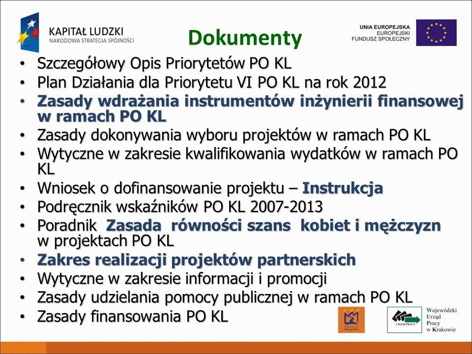 Dokumenty Szczegółowy Opis Priorytetów PO KL