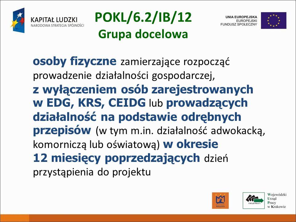 POKL/6.2/IB/12 Grupa docelowa