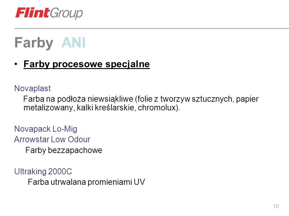 Farby ANI Farby procesowe specjalne Novaplast