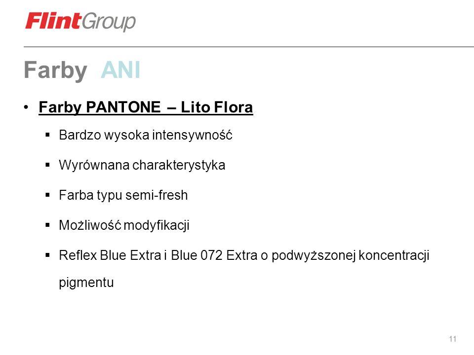 Farby ANI Farby PANTONE – Lito Flora Bardzo wysoka intensywność