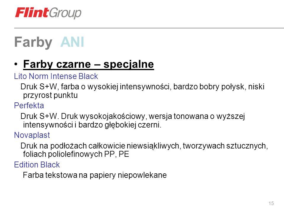 Farby ANI Farby czarne – specjalne Lito Norm Intense Black