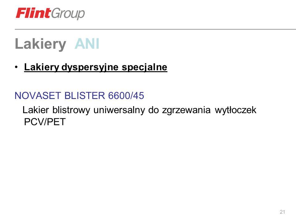 Lakiery ANI Lakiery dyspersyjne specjalne NOVASET BLISTER 6600/45