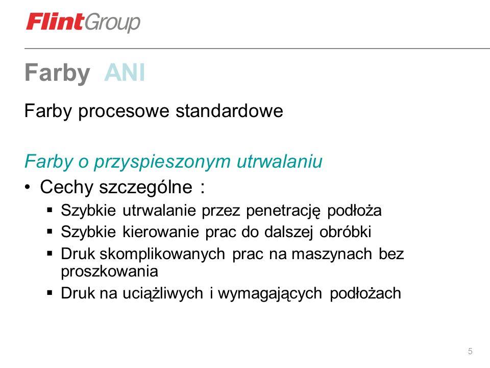 Farby ANI Farby procesowe standardowe