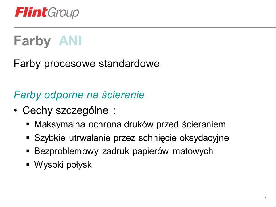 Farby ANI Farby procesowe standardowe Farby odporne na ścieranie